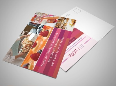corporate-events-and-catering-postcard-template