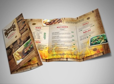 southern-bbq-food-brochure-template