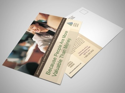 local-credit-union-banking-postcard-template