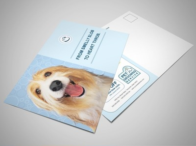pet-care-and-grooming-postcard-template