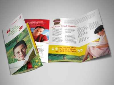 library-bookstore-brochure-template