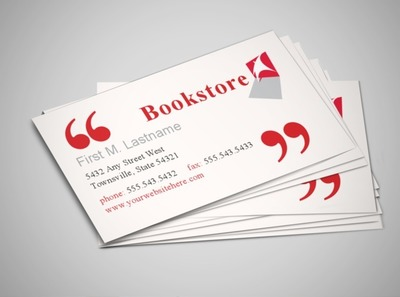 library-bookstore-business-card-template