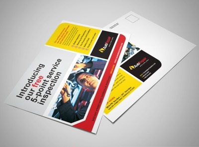 automotive-service-and-repair-postcard-template