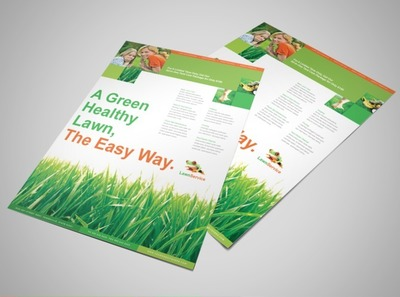 Lawn Maintenance Business Services Flyer Templates