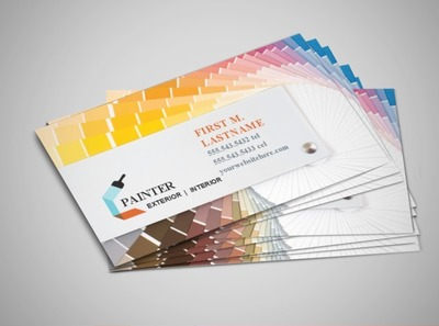 Painting contractor business cards images business card template painter business card template fingradio painter businesscards business card templates painter business card template colourmoves images cheaphphosting Images