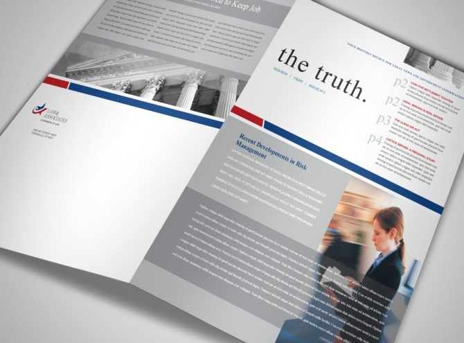 Contemporary Legal Brochure Template Inspiration Examples - Legal newsletter template