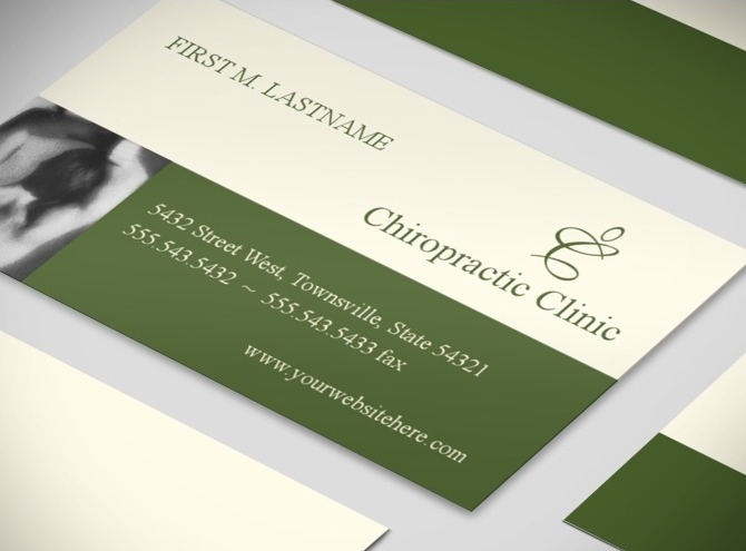 Chiropractor Massage Therapy u0026 Chirporactic Clinic Business Card ...