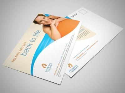 physical-therapy-facility-postcard-template