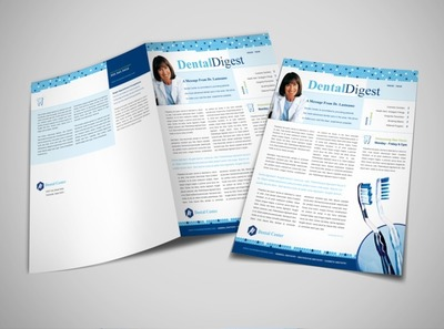 general-dentistry-office-newsletter-template