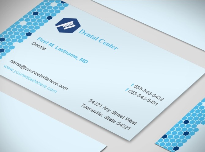 Family Dentistry & Dental fice Business Card Templates