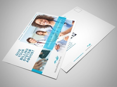 medical-records-postcard-template