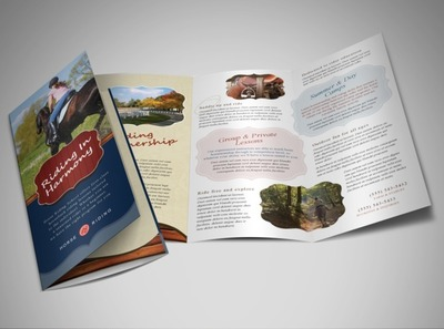 horse-riding-brochure-template