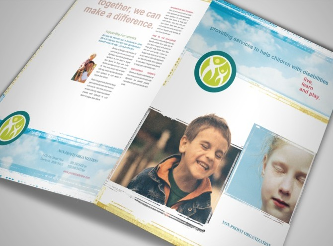 Disabled children services organization brochure templates mycreativeshopcom for Non profit brochure template