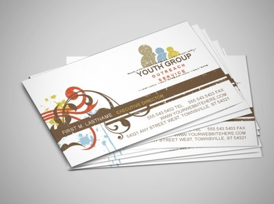 church-youth-group-business-card-template