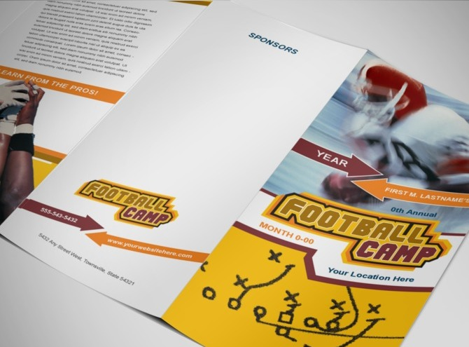 football-camp-brochure-template