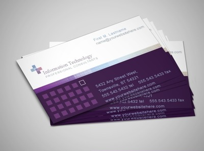 it-consulting-business-card-template