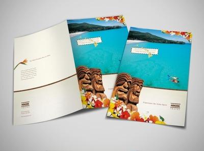 Travel tourism flyer brochure templates for Hawaii brochure template