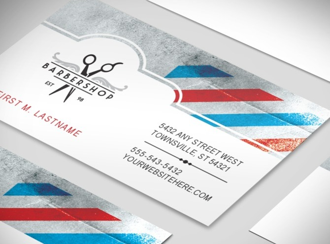 Barber shop letterhead joy studio design gallery best for Barbershop business cards templates