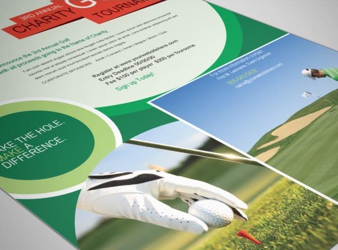 Golf Tournament Tri Fold Brochure Template Design 10 Popular Free