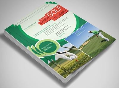 Golf Scramble Flyer Template - Golf brochure template