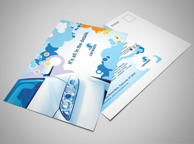 vehicle-cleaning-and-care-postcard-template