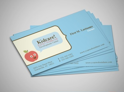 early-childhood-development-education-business-card-template