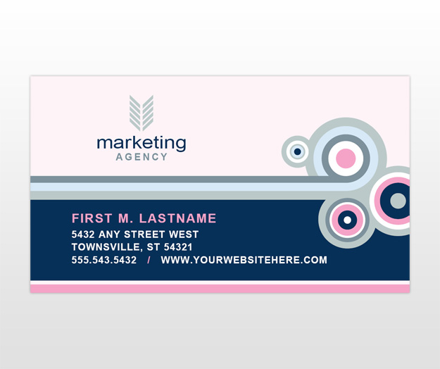 Marketing agency business card template for Business card size ad