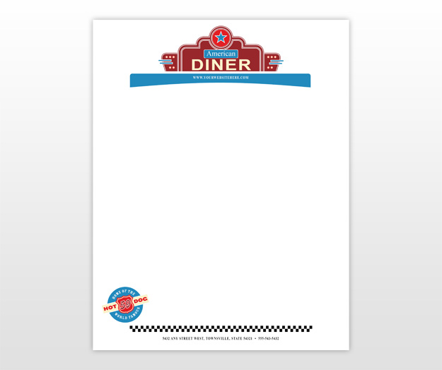 American diner menu template free pathmaster for Restaurant letterhead templates free