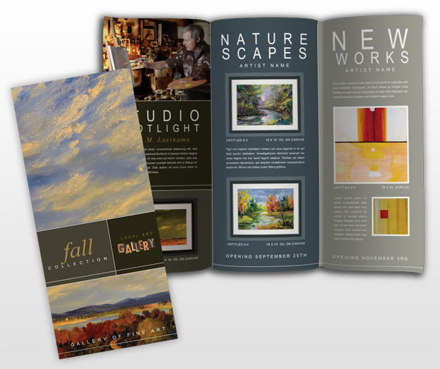 Document moved for Art brochure template