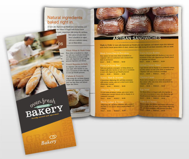 bakery brochure template - 625px
