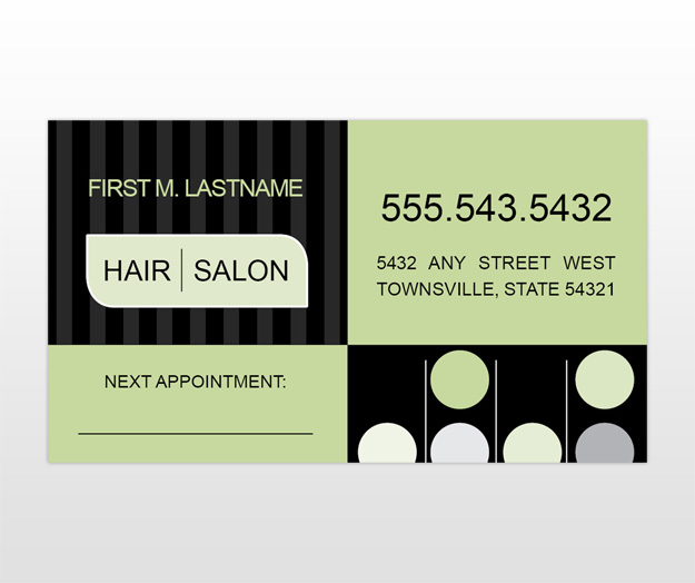 Hair stylist business cards templates design type business card