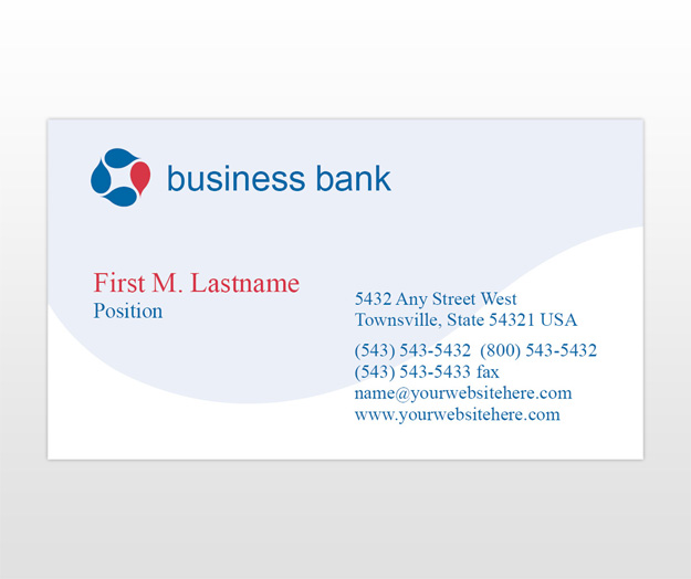 Business and corporate banking business card template