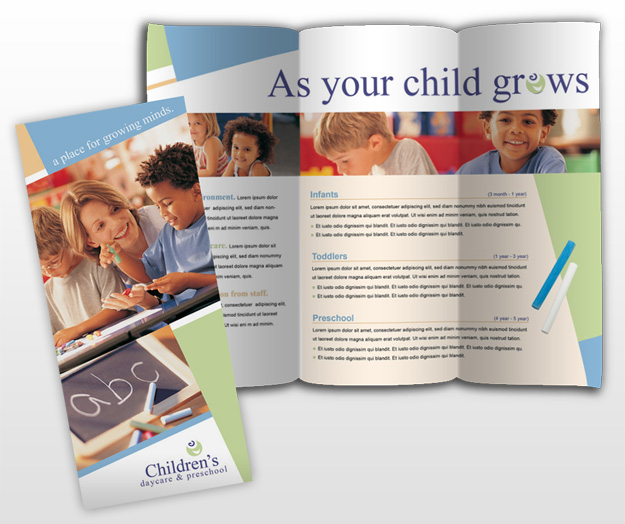 Kindergarten Brochure Template Novasatfmtk - Child care brochure template