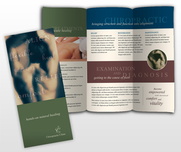 Chiropractor massage therapy chirporactic clinic for Chiropractic brochures template