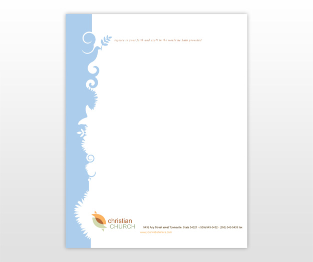 Church letterhead samples cake ideas and designs for Christian letterhead templates free