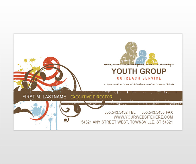 Church minister youth ministry church group business for Ministry business cards