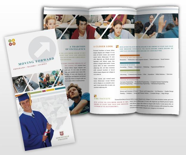 College university education tri fold brochure templates for Teacher brochure template