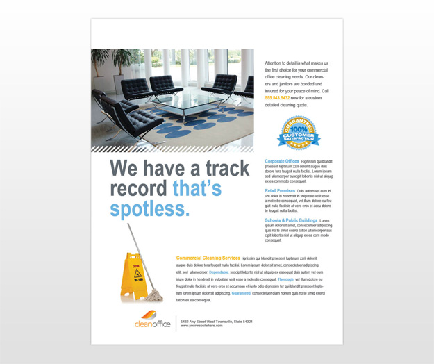 commercial cleaning brochure templates - document moved
