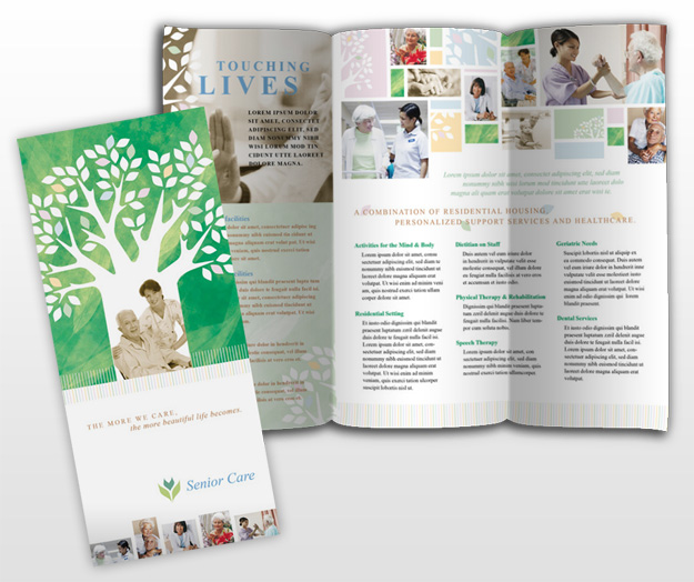 Elder care nursing home services brochure templates for Home care brochure template