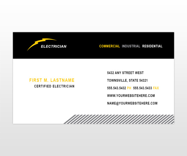 Gallery electrician business cards ideas for Electrician business cards templates free