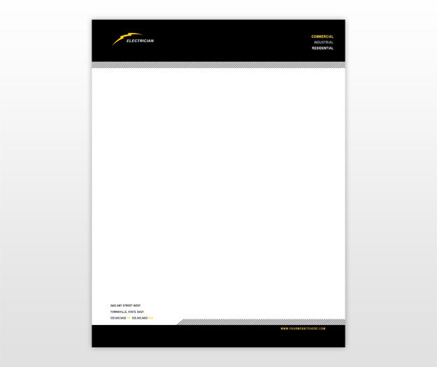 Beautiful illustration letterhead templates for electricians search results for business letterhead templates calendar 2015 spiritdancerdesigns Gallery