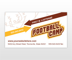 football-camp-business-card-template