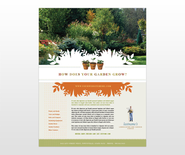 Document moved for Garden maintenance flyer template