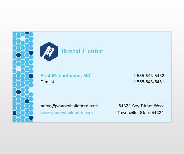 Family dentistry dental office business card templates mycreativeshopcom for Office business card template