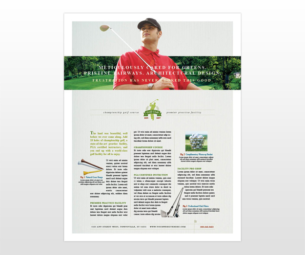 instruction leaflet template - microsoft templates brochures tri fold golf course