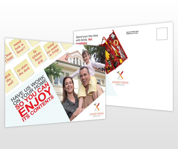 Handyman General Contractor Services Postcard Templates