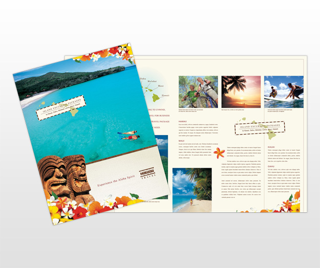travel agency brochure template - hawaii wedding anywhere party invitations ideas