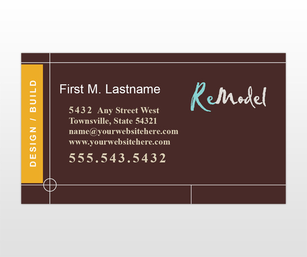Home Renovation & Remodeling Business Card Templates