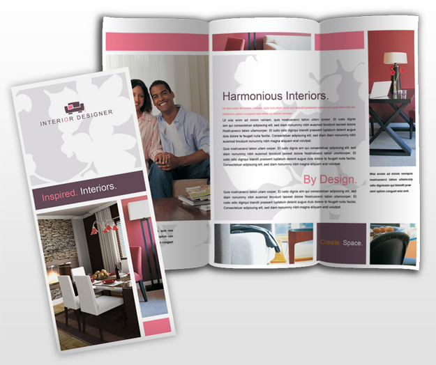 interior designer amp home decor business tri fold brochure