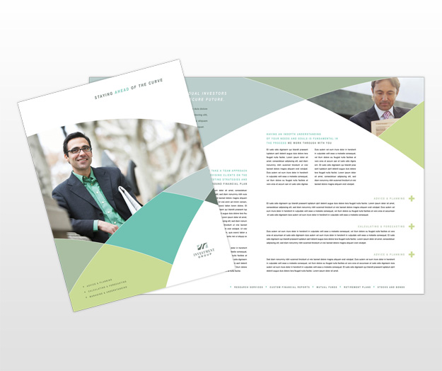 financial brochure templates - financial services company brochure templates